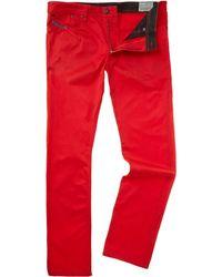 Diesel Skinny Leg Zip Trousers - Lyst