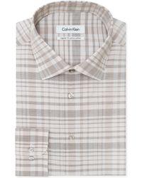 Calvin Klein Birch Checked Dress Shirt - Lyst