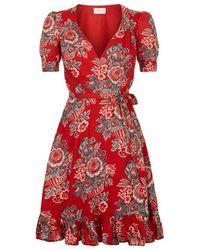 Denim & Supply Ralph Lauren - Floral Waterfall Hem Dress - Lyst