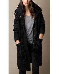 Burberry Wool Cashmere Knit Cardigan Coat - Lyst
