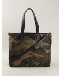 Valentino Camouflage Tote - Lyst