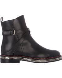 Christian Louboutin Chelsea Chain Ankle Boots - Lyst