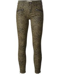 Current/Elliott The Soho Zip Stiletto Cropped Skinny Jeans - Lyst
