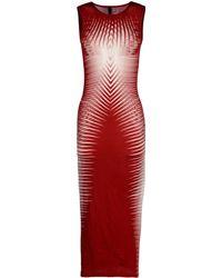 Gareth Pugh Long Dress red - Lyst