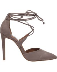 Steve Madden Raela Suede Ankle-Wrap Pumps brown - Lyst