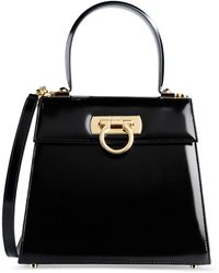 Ferragamo Medium Leather Bag - Lyst