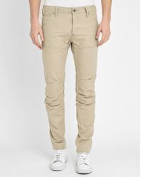 G-Star RAW | Beige 5620 3d Slim-fit Jeans | Lyst