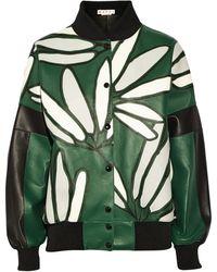 Marni Oversized Leather Bomber Jacket - Lyst