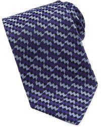Missoni Mini-chevron Stripe Silk Tie - Lyst