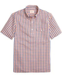 Brooks Brothers Seersucker Check Popover Short-Sleeve Sport Shirt - Lyst