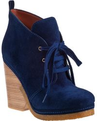 Marc By Marc Jacobs 636990 Ankle Boot Blue Suede - Lyst