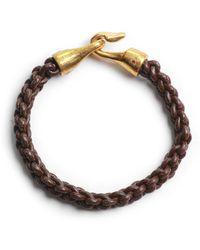 Lulu Frost G Frost Zipper Harpoon Bracelet - Brn - Lyst
