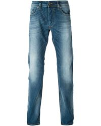 Diesel Stone Washed Straight Jeans blue - Lyst