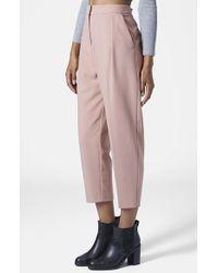 Topshop Women'S Straight Leg Crop Pants - Lyst