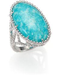 Judith Ripka Marrakech Amazonite Sterling Silver Ring - Lyst