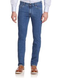 Canali Straight-Leg Jeans blue - Lyst