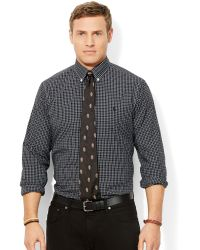 Ralph Lauren Polo Big and Tall Classic-fit Checked Poplin Shirt - Lyst