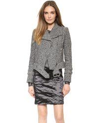 Carven Tweed Jacket  - Lyst