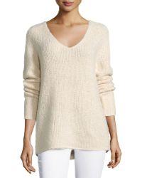 Donna Karan New York | V-neck Cashmere-blend Sweater | Lyst