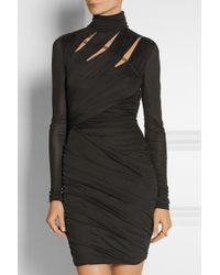 Emilio Pucci Cutout Jersey Mini Dress - Lyst