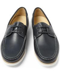 A.P.C. - Leather Boat Shoes - Lyst