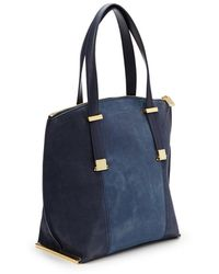 Ted Baker Leather and Suede Tote Bag - Lyst