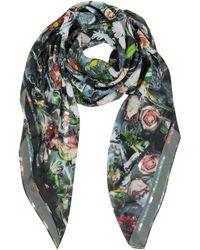 McQ by Alexander McQueen Festive Floral Print Silk Wrap - Lyst