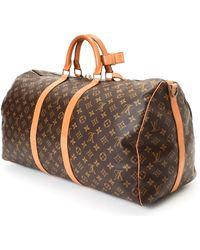 Louis Vuitton Brown Travel Bag brown - Lyst