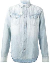 Diesel Chest Pocket Denim Shirt blue - Lyst