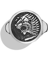 David Yurman Petrvs Lion Signet Ring - Lyst
