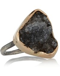 Melissa Joy Manning - 14-karat Rose Gold, Sterling Silver And Sonora Dendritic Ring - Lyst