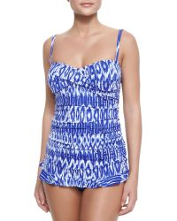 Tommy Bahama Printed Ruched One-Piece Swimsuit - Lyst