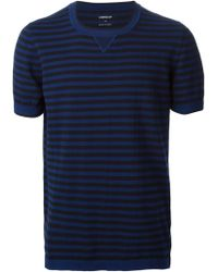 Dondup Stripped Short Sleeve Sweater - Lyst