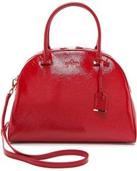 Kate Spade Dome Satchel  Red - Lyst