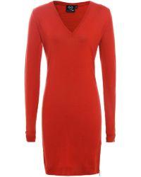 McQ by Alexander McQueen Zip V-Neck Dress - Lyst