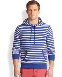Polo Ralph Lauren Striped Terry Pullover Hoodie - Lyst