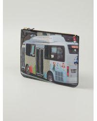Comme Des Garçons Bus Print Clutch - Lyst