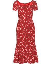 Dolce & Gabbana Red Polka-Dot Dress - Lyst