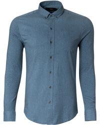 W.r.k. Exclusive Reworked Iii Printed Long-Sleeve Shirt blue - Lyst
