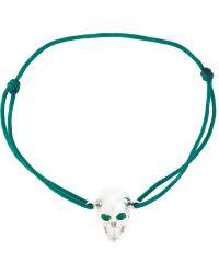 Leivan Kash - Emerald Eyes Skull Bracelet - Lyst