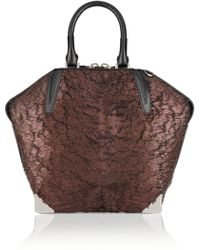 Alexander Wang Emile Prisma Coated Calf Hair Tote - Lyst