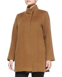 Fleurette - Stand-Collar Camel Hair Coat - Lyst