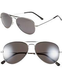 Converse Women'S 58Mm Aviator Sunglasses - Silver Mirror - Lyst