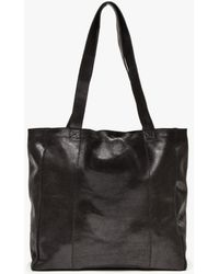 Ganni Mulholland Leather Tote - Lyst