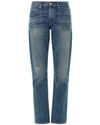 3x1 Straight-Leg Mid-Rise Boyfriend Jeans - Lyst