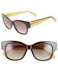 Max Mara Women'S 'Thicks' 53Mm Retro Sunglasses - Dark Havana - Lyst