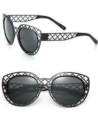 Tory Burch Lattice 52Mm Cat'S-Eye Sunglasses black - Lyst