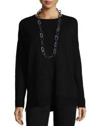 Eileen Fisher   Long-sleeve Slub Box Top   Lyst