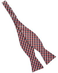 Vince Camuto Plaid Bow Tie - Lyst