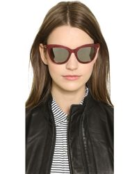 Marc By Marc Jacobs - Perforated Metal Mirrored Sunglasses - Gold/black Mirror - Lyst